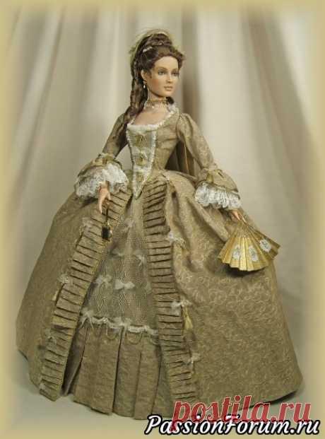Куклы в исторических нарядах от Шэрил Кроуфорд (Charil Crawfard)   Разнообразные игрушки ручной работы