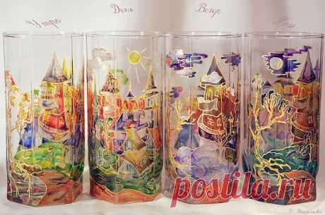 Amazing glass-painting