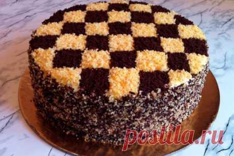Торт «Шахматный». Видео