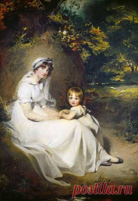 Лоуренс, Томас - Леди Мэри Темплтаун и её старший сын (картина) — Национальная галерея искусств (Вашингтон)