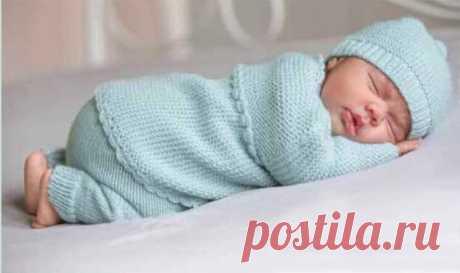 Жакет, штанишки и шапочка малышам до 1 года - Для детей до года - Каталог файлов - Вязание для детей