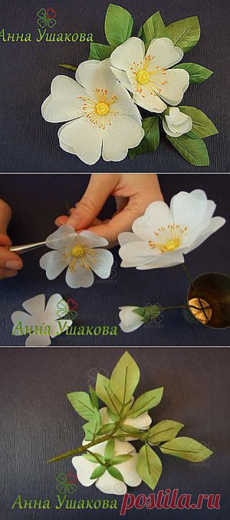 Веточка шиповника из натурального шелка. Брошь - цветок. - Ярмарка Мастеров - ручная работа, handmade