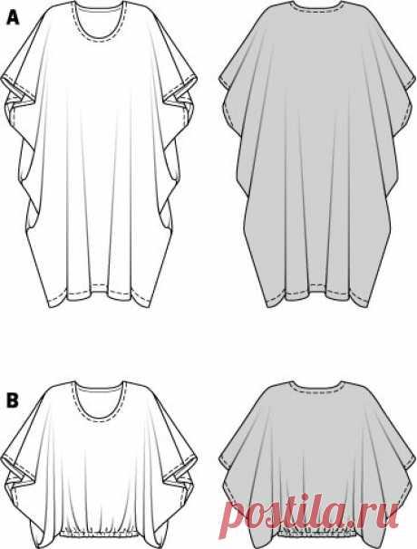 Выкройки туник, юбок, платьев в стиле бохо