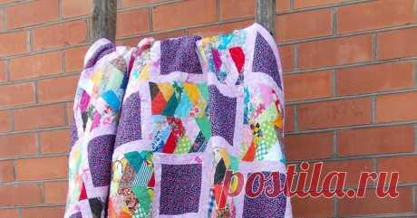 Скрап одеяло + МК лоскутная косичка Блог о лоскутном шитье и уютных вещах ручной работы
