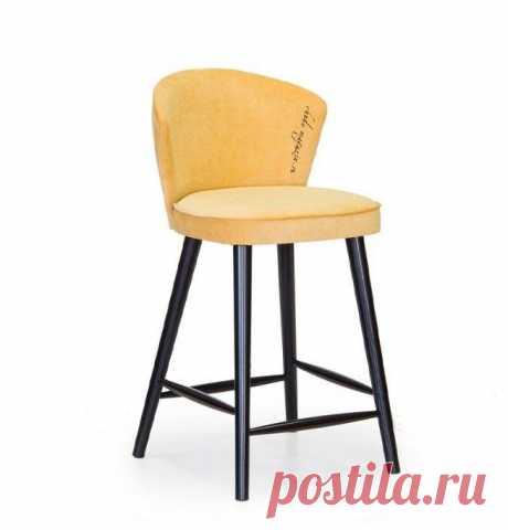 Современный полубарный стул оранжевого цвета Глори 11 Г-27. В интернет-магазине Chudo-magazin.ru в Москве.
