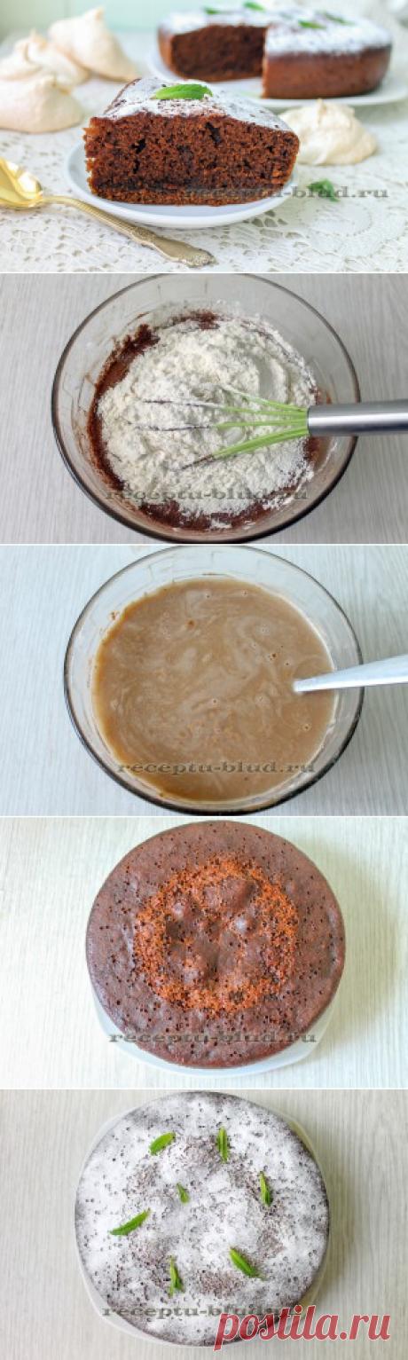 Las recetas del bizcocho de chocolate de la foto – en la multicocción, el horno