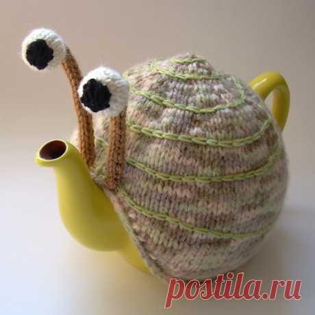 Идея вязаной грелки для чайника.