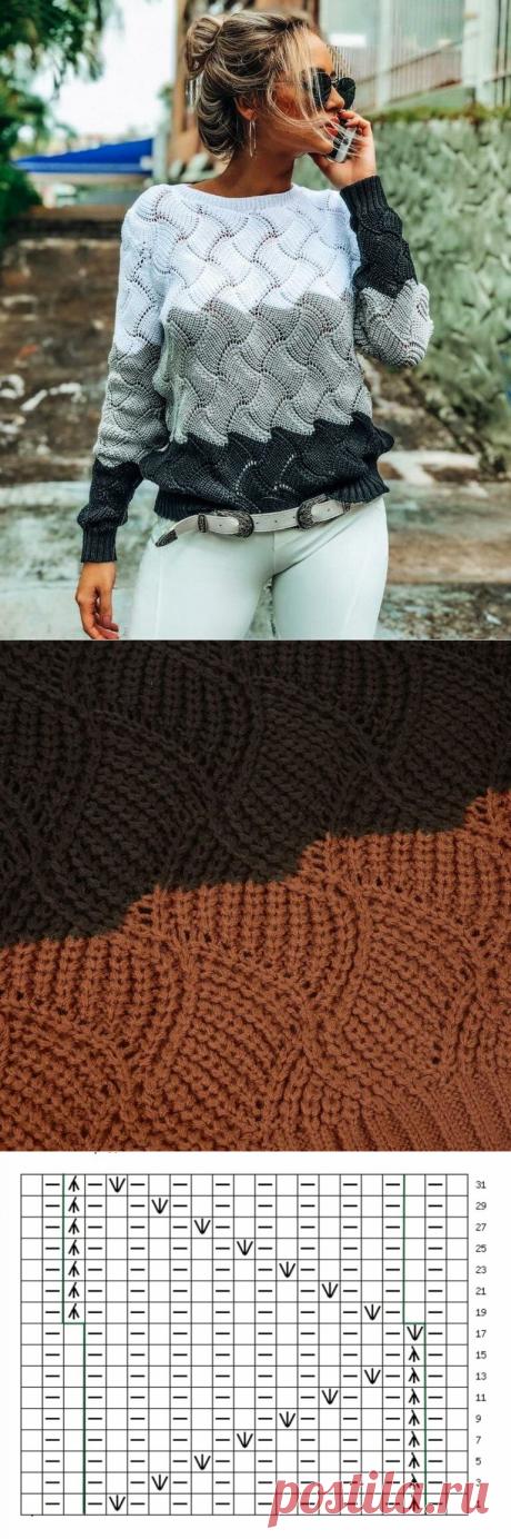 Три осенних пуловера одним фантазийным узором | CatDogSweatr | Яндекс Дзен