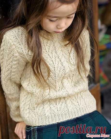 Пуловер для мамы и дочки. Спицы. - ВЯЗАНАЯ МОДА+ ДЛЯ НЕМОДЕЛЬНЫХ ДАМ - Страна Мам