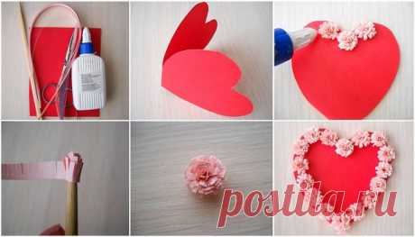 Как сделать объемную валентинку на 14 февраля :: как сделать валентинку из бумаги необычную :: Hand-made :: KakProsto.ru: как просто сделать всё