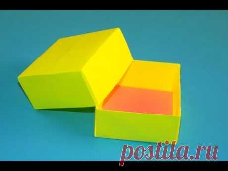 Оригами коробочка с крышкой. Как сделать коробку из бумаги видео