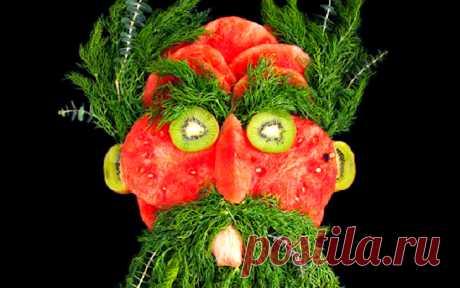 Яркие портреты из сочной зелени и свежих продуктов • НОВОСТИ В ФОТОГРАФИЯХ