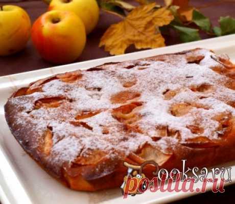 Яблочный пирог на кефире фото рецепт приготовления