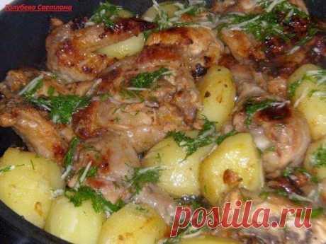 Курочка в кефире 1.Курицу разрезать на порционные кусочки+соль,перец. 2.С...