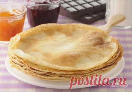 Блины на простокваше тонкие с дырочками - пошаговый рецепт с фото на Повар.ру