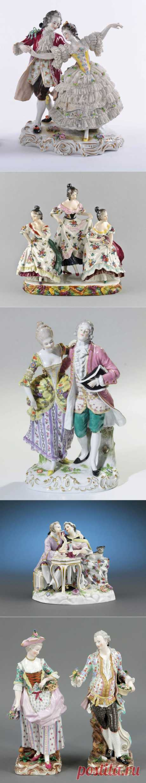 «Изящный век»...в фарфоре. Жанровая статуэтка.