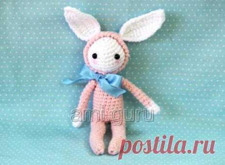 Кролик-аниме для начинающих. Крючок — Вязаные игрушки. Амигуруми всех стран, соединяйтесь