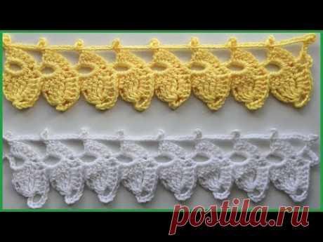 Ленточное кружево. Вязание крючком / Ribbon lace crochet