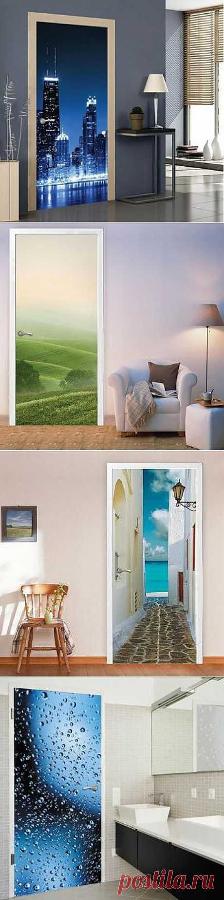 Photowall-paper on a door: an original decor for the house | Dom-Tsvetnik. to buy in >>&gt online store;