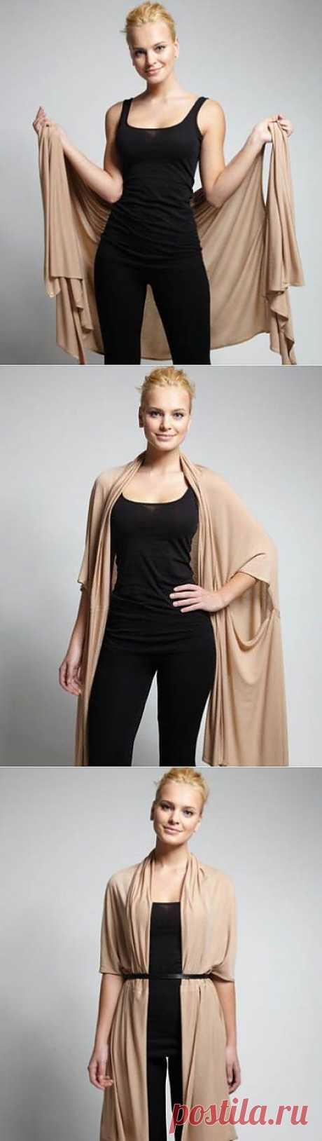 Еще один вариант ношения Bina / Простые выкройки / Модный сайт о стильной переделке одежды и интерьера