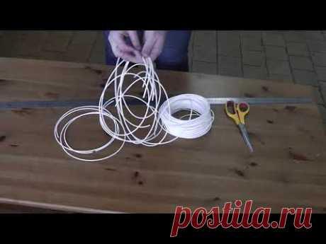 Плетение корзинки из полиротанга (искусственного ротанга) . часть 1.