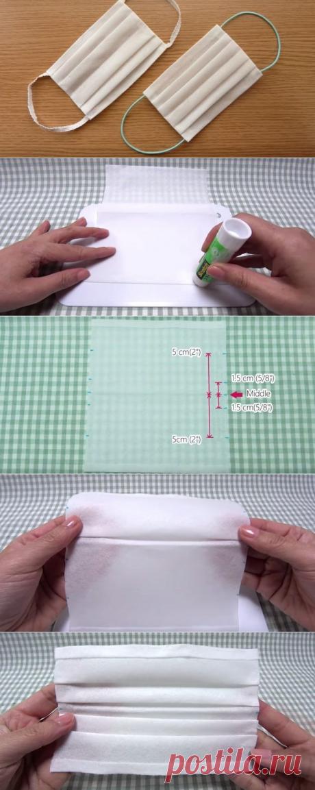 Как сделать медицинскую маску из бумажного полотенца