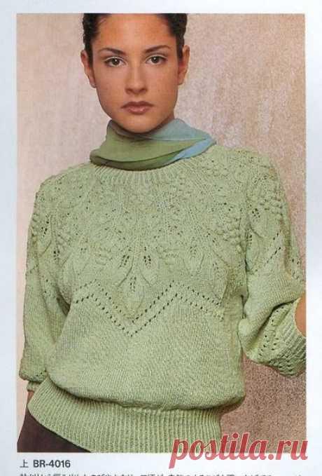 Зелёный пуловер для женщин | Лаборатория домашнего хозяйства