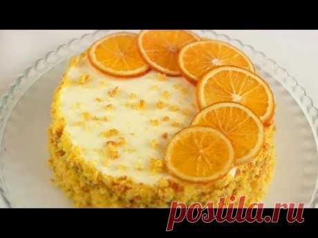 Ароматный Тыквенный Торт/Простой Но вкусный!!
