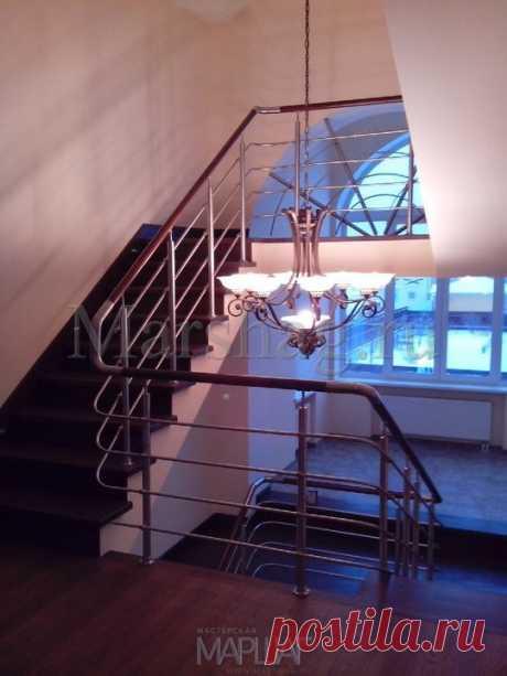 Изготовление лестниц, ограждений, перил Маршаг – Комбинированные лестничные перила