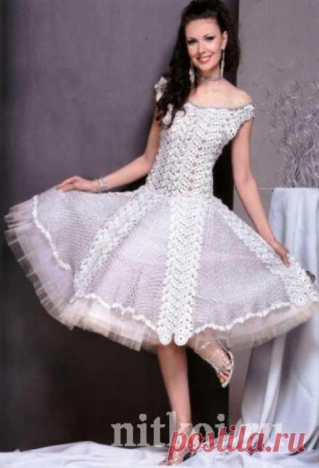Вечернее платье крючком из ЖМ » Ниткой - вязаные вещи для вашего дома, вязание крючком, вязание спицами, схемы вязания