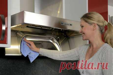 Как легко отмыть фильтр кухонной вытяжки дома?
