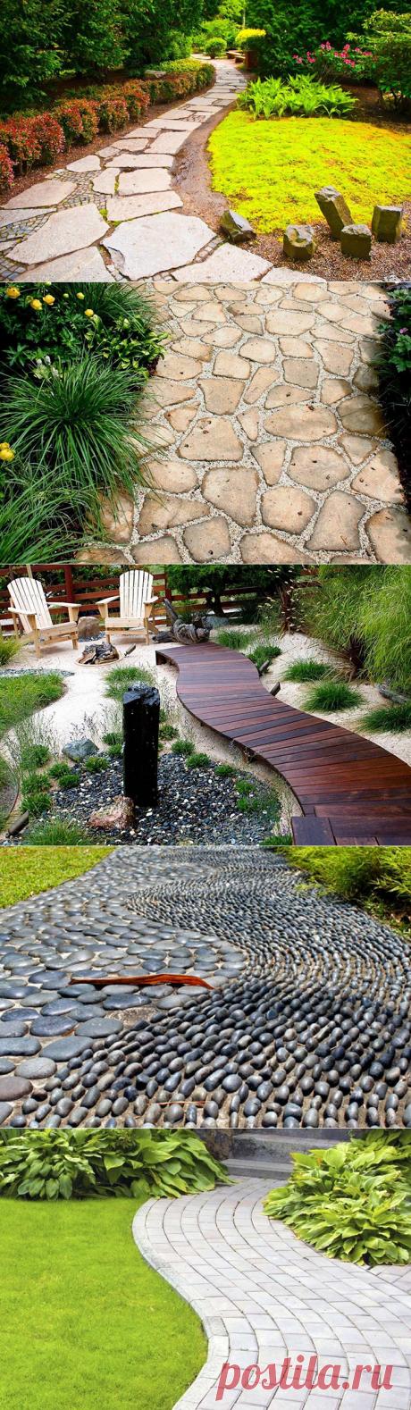 Из чего делать садовые дорожки: обзор подходящих материалов