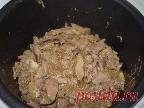 Начинка из говяжьей печени в мультиварке