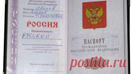 Кто принял решение об отмене в паспорте графы национальность?   Да-Да Новости