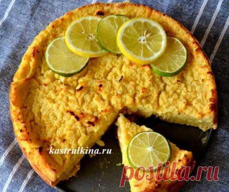 Итальянский сырный пирог с лимоном и рикоттой  на манке