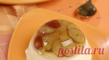 Панакотта с виноградным желе. Пошаговый рецепт с фото на Gastronom.ru