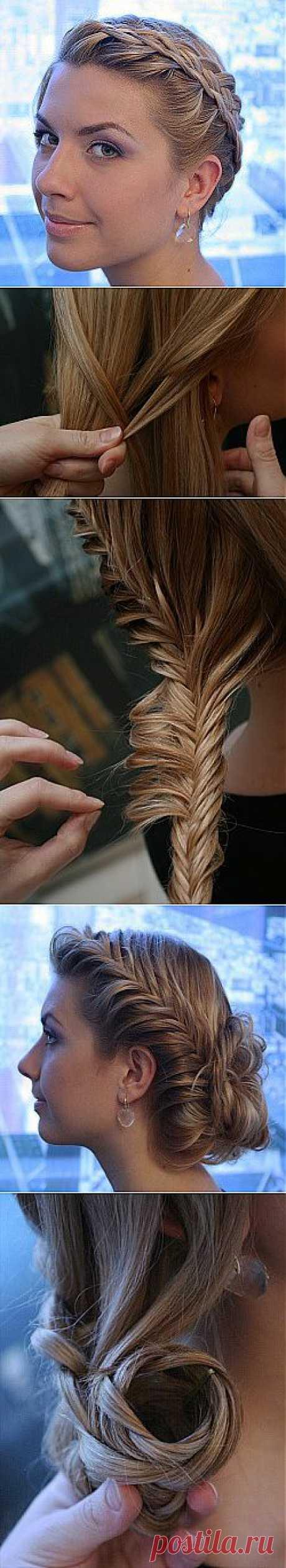 Учимся плести косы и укладывать их в сногсшибательные .