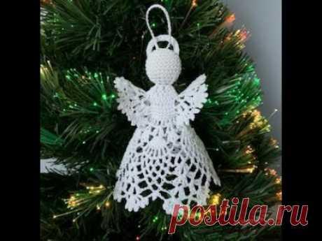Ажурный ангел крючком. How to crochet a Christmas angel.