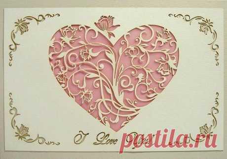 Ажурные открытки «Сердце» своими руками..