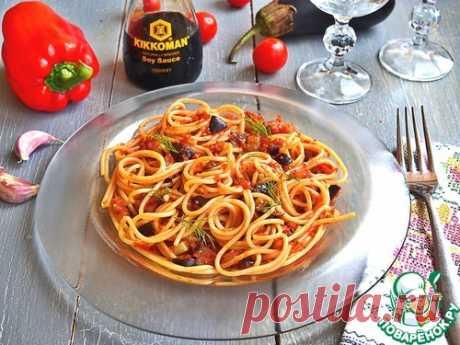 """La salsa """"Рататуй"""" de los espagueti"""