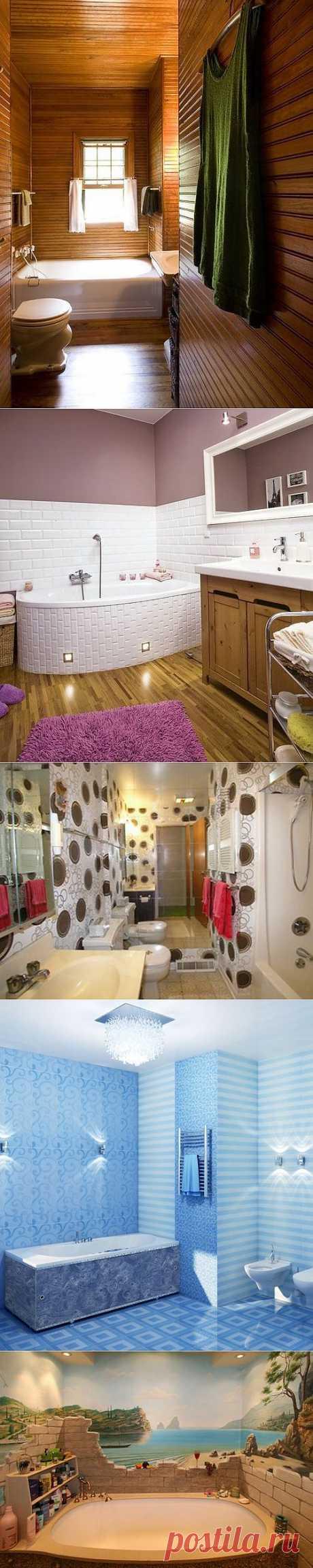 4 альтернативных способа отделки ванной комнаты | Дом Мечты