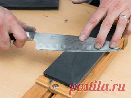 Как самостоятельно заточить кухонные ножи до бритвенной остроты . Милая Я