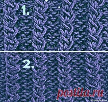 Узор-''Тонкие косички''. | Вязание спицами для начинающих Узор удобен в исполнении тем, что петли тут не надо менять местами.Для начинающих.