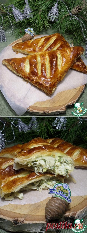 """Слоеные пироги """"Треуголки"""" - кулинарный рецепт"""