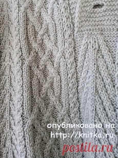 Мужской свитер спицами с аранами. Работа Татьяны Ивановны, Вязание для мужчин