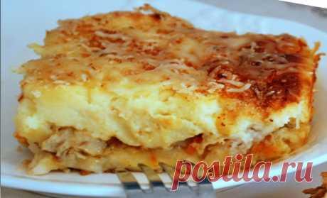 Картофельная запеканка с рыбой: рецепт пошагово