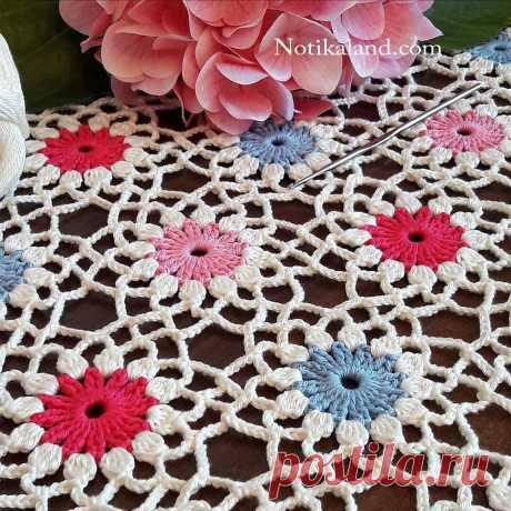 Notikaland - Crochet EASY Flower Pattern
