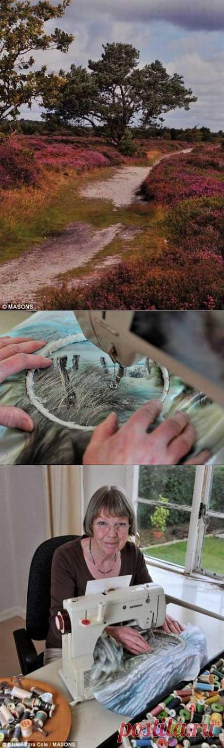 Она вышивает фотографии! Англичанка Джилл Дрэпер берет фотографию и с помощью иголки и ниток переносит изображение на ткань! На каждом рисунке миллионы стежков! Именно поэтому одна такая работа стоит до 2300 долларов.