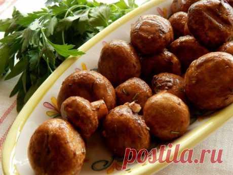 Шампиньоны в духовке — Sloosh – кулинарные рецепты