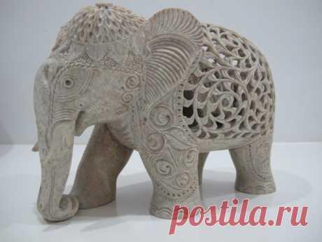 Священные индийские животные в работах мастеров: фигурки слонов из камня и дерева - Ярмарка Мастеров - ручная работа, handmade